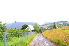 Старая дорога к горе Стоковые Фотографии RF