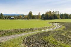 Старая дорога Delsbo Швеция Стоковая Фотография