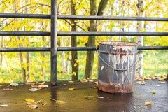 Старая осень ведра Стоковые Изображения RF