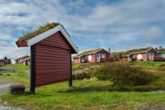 Старая доска информации в территории дома для гостей Hustadvika Стоковое Изображение