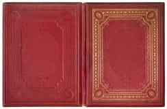 Старая открытая книга 1870 Стоковые Фотографии RF