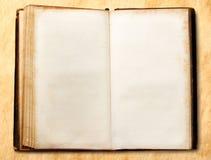 Старая открытая пустая книга Стоковое Фото