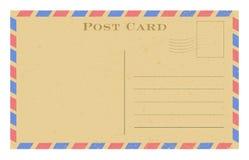 старая открытка Открытка Grunge бумажная винтажная с рамкой также вектор иллюстрации притяжки corel Стоковые Фотографии RF