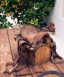 Старая лошадь седловины Стоковые Изображения RF