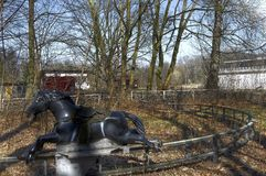 Старая лошадь carousel Стоковая Фотография