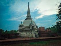 Старая пагода кирпича ayutthaya стоковые изображения