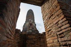 Старая пагода кирпича в рамке Стоковое Изображение RF