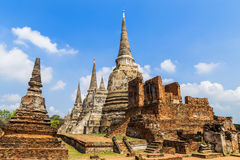 Старая пагода на виске phrasrisanpetch wat в Таиланде Стоковое Изображение RF