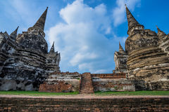 Старая пагода 2 на небе предпосылки Стоковое Фото