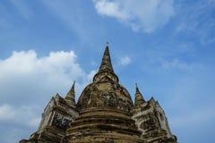 Старая пагода на небе предпосылки Стоковое Изображение RF