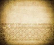 Старая пакостная бумага с старомодной границей Стоковое Изображение