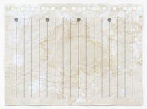 Старая пакостная бумажная предпосылка текстуры Стоковое Изображение