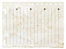 Старая пакостная бумажная предпосылка текстуры Стоковое Изображение RF