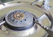 Старая пакостная газовая плита Стоковые Изображения RF