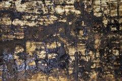Старая пакостная кирпичная кладка в саже Стоковые Фото
