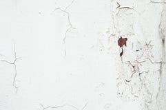 Старая пакостная стена цемента с ржавчиной и отказами Стоковое фото RF