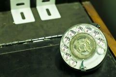 Старая панель дискового телефона. Стоковая Фотография