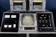 Старая панель на оборудовании электроники Стоковое фото RF