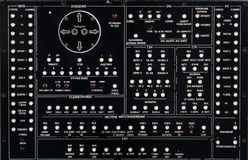 Старая панель на оборудовании электроники Стоковые Фото