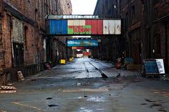 старая переулка cobblestoned пакостная Стоковое Изображение