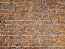 Старая песчаная текстурированная кирпичная стена Стоковое Изображение RF