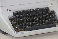 Старая печатая машина стоковые изображения rf