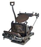 Старая печатная машина Стоковые Изображения