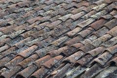 старая плитка крыши Стоковая Фотография