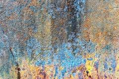 Старая поверхность металла multicolor стоковая фотография rf