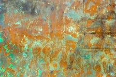 Старая поврежденная ржавая предпосылка металла текстура утюга ржавая Стоковое Изображение RF