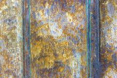 Старая поврежденная ржавая предпосылка металла текстура утюга ржавая Стоковое фото RF
