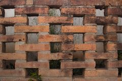 Старая поддельная кирпичная стена стоковое изображение rf