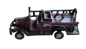 Старая пожарная машина игрушки литого железа Стоковая Фотография RF