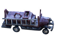 Старая пожарная машина игрушки литого железа Стоковые Изображения RF