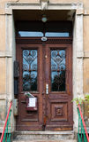 Старая покинутая дверь Стоковая Фотография