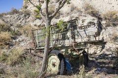 Старая покинутая деревянная колесница Стоковые Фото