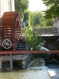 Старая покинутая мельница в переулках малой деревни Chia Стоковое фото RF