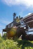 Старая покинутая фабрика Обрабатывать зерна стоковые изображения rf