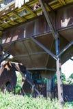 Старая покинутая фабрика Обрабатывать зерна стоковые фото