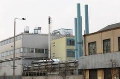 Старая покинутая фабрика Стоковое Изображение