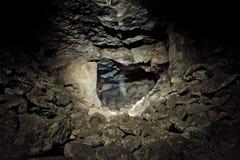 Старая покинутая шахта Gurievsky известняка в Byakovo, области Тулы Стоковые Изображения RF