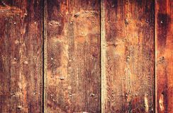 Старая покрашенная деревянная стена - текстура или предпосылка Стоковое Фото