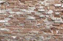 Старая покрашенная красная текстура предпосылки кирпичной стены Стоковые Фото