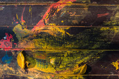 старая покрашенная древесина Стоковые Фотографии RF