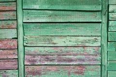 Старая покрашенная стена деревянных планок Стоковое Изображение
