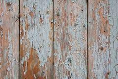 Старая покрашенная стена деревянных планок Стоковое Изображение RF
