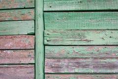 Старая покрашенная стена деревянных планок Стоковая Фотография RF
