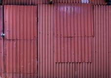 Старая покрашенная текстура металлических пластин Стоковое Фото