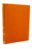 Старая померанцовая крышка книги Стоковые Фото