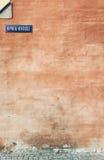 старая померанцовая стена Стоковые Фотографии RF